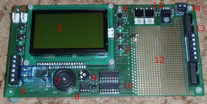 The control PCB from DIL parts side
